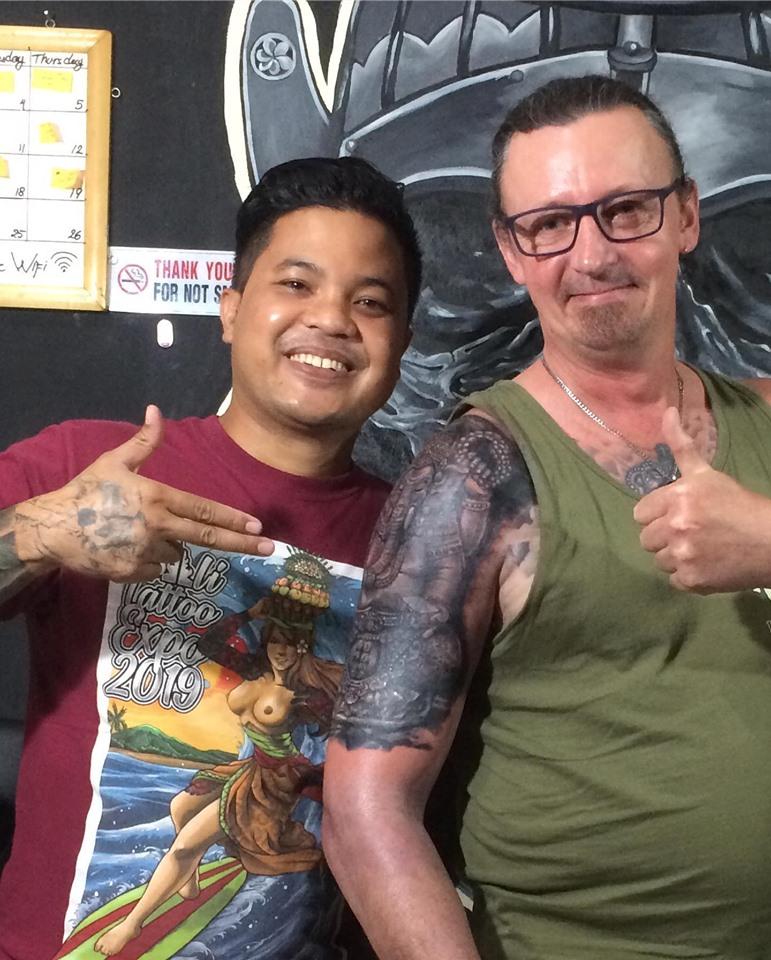 Best Cover Up Tattoo Black and Grey Ubud Bali
