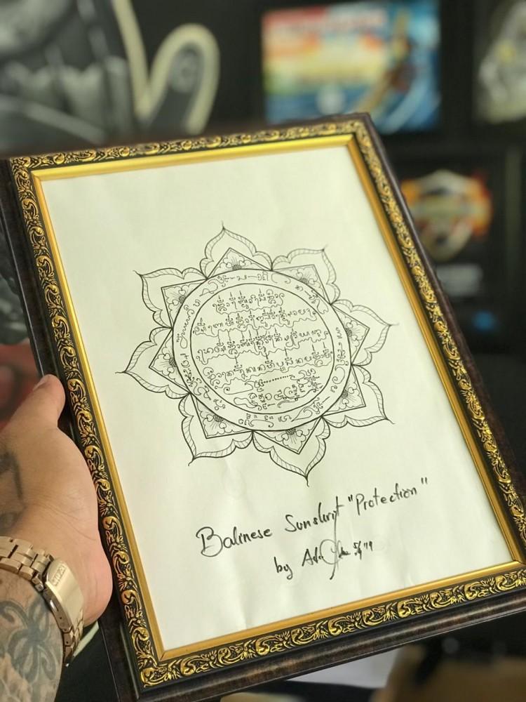 Balinese protection symbol Tattoo