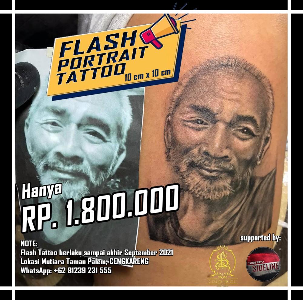 flash potrait tattoo